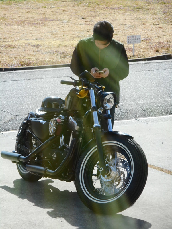 バイクで参上(^^)v