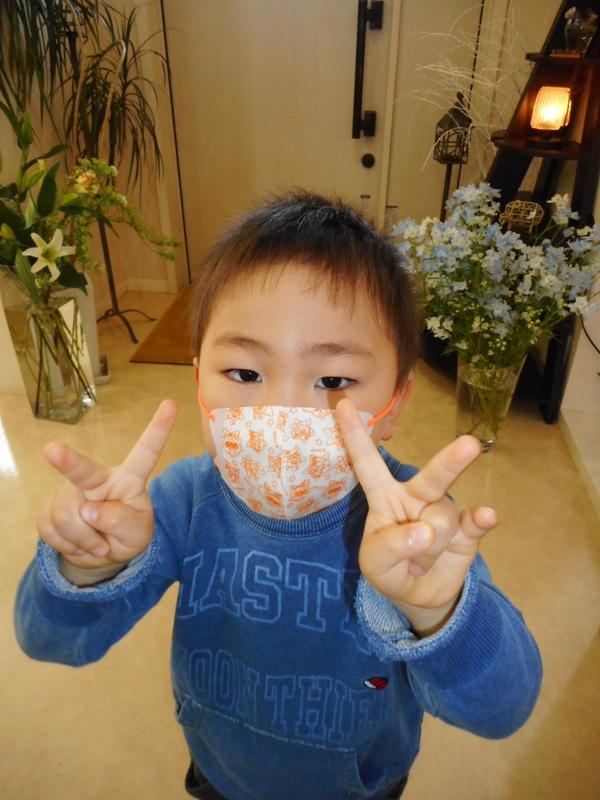 小さいお顔に小さいマスク